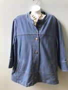 Coldwater Creek Blue Denim Jacket Stretch 3/4 Sleeves Nice Buttons Plus Size 2x