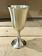 Set Of 4 R. Wallace And Sons Water Goblet 12 Gold Washed 6 1/2 In.