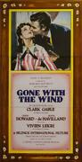 Gone With The Wind 3 Sheet Movie Poster Lithograph Clark Gable S2 Art