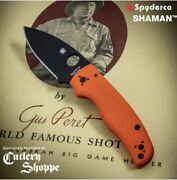 Spyderco Shaman Cts-xhp Cutlery Shoppe Exclusive Sold Out