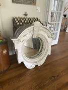 Antique French Paris Zinc Architectural Window Frame From France With Mirror