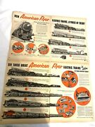 Vintage American Flyer Trains Paper Ad Christmas Advertising 6 Pages