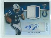 Ty Hilton 2012 Topps Chrome Rpa Refractor 2 Color Patch Auto Rc D 48/50