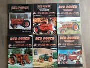 Lot Of 6 Red Power Magazine For Ih Collector's And Enthusiasts 2000 Farm Tractor