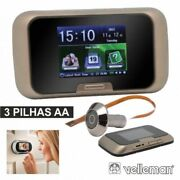 Camera Peephole Viewer With Lcd Monitor Photo And Video Recording Velleman