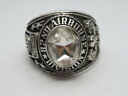 @ Silver 925 82nd Airborne Ring Americaand039s Guard Honor Army Ringsize 13