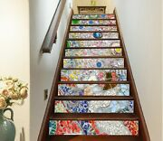 3d Gem Sequins Na022 Stair Risers Decoration Photo Mural Decal Wallpaper Fay