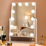 Fenchilin Hollywood Vanity Makeup Mirror With Lights Led Lighted Tabletop, White