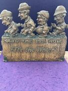 """1940's Olympia Beer 3-d 'it's The Water""""19 Th Hole Golf Syroco Wood Very Rare"""