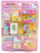 Hello Kitty Happy House Doll Furniture Sets Free Ship W/tracking New From Japan