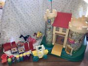 Mint Vintage 1974 Fisher Price 993 Castle Carriage Horse People Play Family Lot