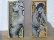 Penny Stencil Artist Thumberlina Ed. 1 Of 3 And Lexine Lost Reverse Ed. 1 Of 2