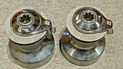 2 Lewmar 16 Self Tailing Winches-chrome