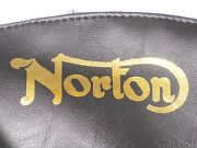 Norton Seat Cover Gold Logo Check Top Checkered Top Mkii Mkiii Roadster