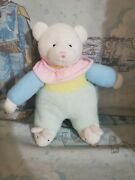 9 Carters Soft Dreams Pastel Terry Cloth Bear Rattle W/bunny Slippers Plush