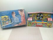 Ohio Art Carnival Shooting Gallery Game Mechanical Tin Toy W/ Box - Works