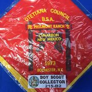 Boy Scout 1973 Otetiana Council Philmont Ranch Neckerchief New In Bag
