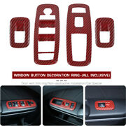 Carbon Fiber Red Window Lift Trim Switch Panel Cover For Dodge Charger Ram 2011+