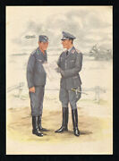Postcard Germany Picture Cover German 3rd Reich Wwii Luftwaffe Chief Engineer