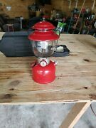 Vintage Coleman 200a Red Single Mantle Lantern January 1964 With Carrying Case