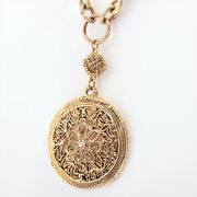 Coco Mark Necklace Gold Plated Gold