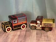 Hershey Chocolate Vehicle Tin Trucks Lot Of Two Vintage Collectible