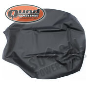 861-46002 02-08 Yamaha Grizzly660 Quad Works Gripper Seat Cover-black