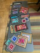 Assorted 90 Antique Chinese Embroideries. Also In Lots Of 10