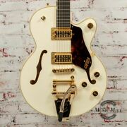 Gretsch G6659tg Players Edition Broadkaster Jr. Electric Guitar Vintage White X4