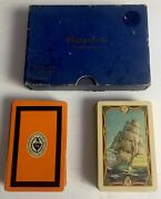 Marguerite Playings Cards 2 Decks Full Sail Ships And St. Nicholas Club Of Nyc