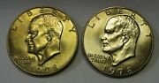 1978 P And 1978-d Bu Eisenhower Ike Dollars Nice Premium Quality Coins For You
