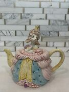 Vtg 1990 Fitz And Floyd Madame Pompidog French Poodle Teapot Rare Retired Reigning