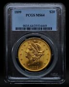 1899 Pcgs Ms64 20 Gold Liberty Double Eagle [051dud]