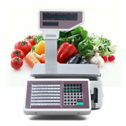 Commercial Digital Price Computing Scale With Thermal Label Printer Supermarket