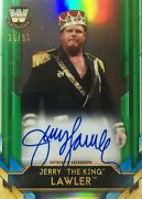 Jerry The King Lawler Big Legends Green Auto /99 Topps Wwe 2020 Chrome Free Sh