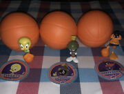 Lot 3 Space Jam Mystery Mini Figures Tweety, Daffy Duck And Marvin The Martian