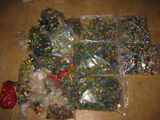 Lot Of Estate Of Vintage And Antique Glass Marbles And Shooters