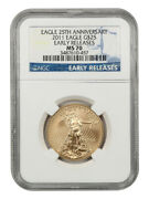 2011 Gold Eagle 25 Ngc Ms70 Early Releases 1/2oz Of Gold - 1/2oz Of Gold