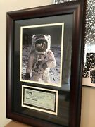 Buzz Aldrin Personal Check Framed 15x20 Signed In-full Rare Signature Psa/dna
