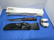 Original Sog Seki Bowie Knife 5th Special Forces Group Dagger And Sheath Nos