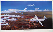 1988 American West Airlines Signed And Numbered Print
