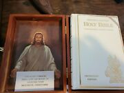 Illustrated Holy Bible Protestant Memorial Edition In Wooden Box- Concordance