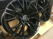 19/20 C7 Z06 Style Gloss Black Rims Wheels Fits Corvette Z51 Package Staggered