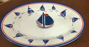 Summer Shopandtrade Sail Boat Platter And Salt And Pepper Shakers