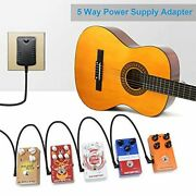 Guitar Effects Pedals Power Supply Adapter 9v Dc 1000ma 5 Way Cables Magnet Ring