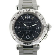 Watches Silver Black Stainless Steel Pasha C Meridian Big Date Used