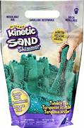Kinetic Sand Twinkly Teal 2lb Bag Of All-natural Shimmering Play Sand For Squ...