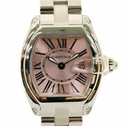 Watches Silver Pink Stainless Steel Roadster Sm From Japan Used
