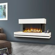 Celsi Electriflame Wall Mounted Electric Fire Fireplace Remote Control Led Glass