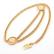 Cambon Plate Chain Belt Gold Plated Gold
